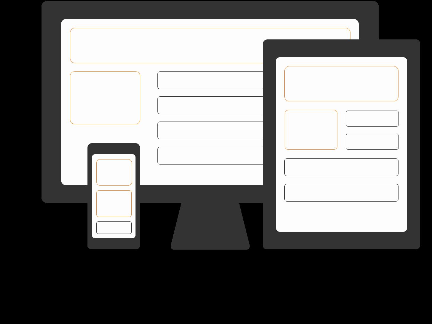 Home Icon Web Design 185x246 orange